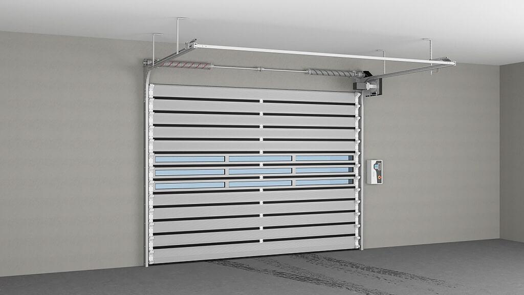 Промышленные секционные ворота серии ISD01 Parking ГК Регион-Гарант