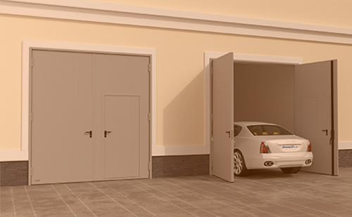 ГК Регион-Гарант Распашные гаражные ворота из панелей с заполнением минеральной ватой